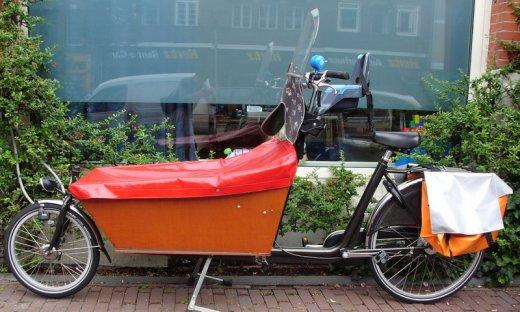 Voyage à Amsterdam VELOCOQUE - Vélo porte bébé